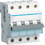 Миниатюрный автоматический выключатель 3 полюсный + N, 25А, 6кА, характеристика B, MBN