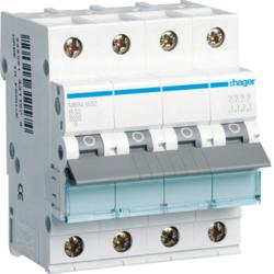 Миниатюрный автоматический выключатель 3 полюсный + N, 32А, 6кА, характеристика B, MBN