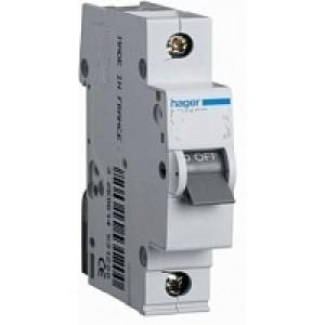 Миниатюрный автоматический выключатель 1 полюсный 25А 6kA  B характеристика,  MB