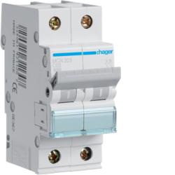 Миниатюрный автоматический выключатель 2 полюсный, 3А, 6kA, характеристика C, MCN