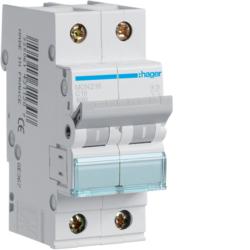 Миниатюрный автоматический выключатель 2 полюсный, 16А, 6kA, характеристика C, MCN