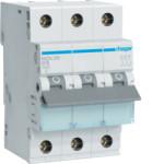 Миниатюрный автоматический выключатель 3 полюсный, 16А, 6kA, характеристика C, MCN