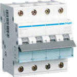 Миниатюрный автоматический выключатель 4 полюсный, 1А, 6kA, характеристика C, MCN