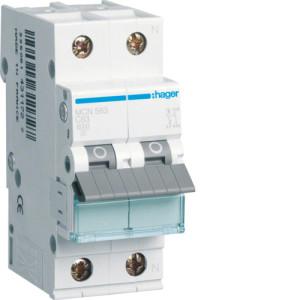 Миниатюрный автоматический выключатель 1 полюс +N, 63А, 6kA, характеристика C, MCN