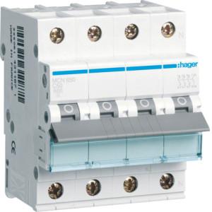 Миниатюрный автоматический выключатель 3 полюсный + N, 50А, 6kA, характеристика C, MCN