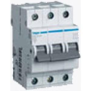 Миниатюрный автоматический выключатель 3 полюсный, 6А, 6kA, характеристика C, MC