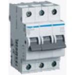 Миниатюрный автоматический выключатель 3 полюсный, 10А, 6kA, характеристика C, MC