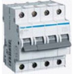 Миниатюрный автоматический выключатель 4 полюсный, 50А, 6kA, характеристика C, MC