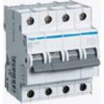 Миниатюрный автоматический выключатель 4 полюсный, 6А, 6kA, характеристика C, MC