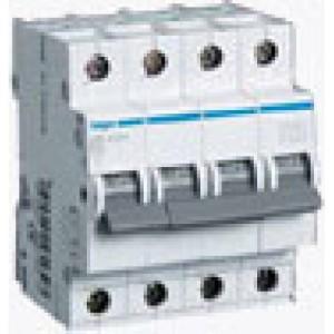 Миниатюрный автоматический выключатель 4 полюсный, 16А, 6kA, характеристика C, MC