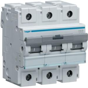 Миниатюрный автоматический выключатель 3 полюс 80А 15kA характеристика B 4,5м