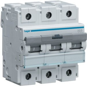 Миниатюрный автоматический выключатель 3 полюс 125А  10kA C характеристика 4,5м