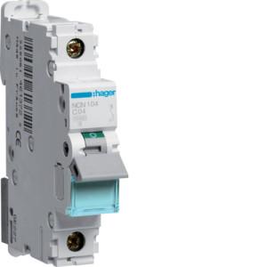 Миниатюрный автоматический выключатель 1 полюсный 4А 10kA характеристика C