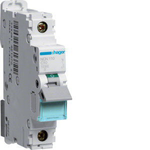 Миниатюрный автоматический выключатель 1 полюсный 10А 10kA характеристика C