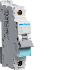 Миниатюрный автоматический выключатель 1 полюсный 13А 10kA характеристика D