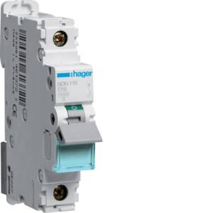 Миниатюрный автоматический выключатель 1 полюсный 16А 10kA характеристика D