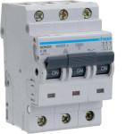 Миниатюрный автоматический выключатель 3 полюсный 25А 10kA характеристика D
