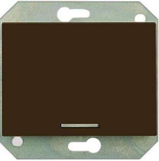 Выключатель 1-пoлюсный с контрольной лампочкой без рамки