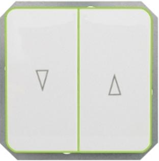 Кнопки для управления жалюзи с лампочкой без рамки серии LuXe LX 200