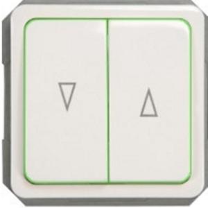 Кнопки для управления жалюзи с лампочкой без рамки