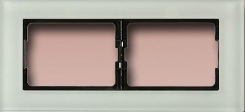 2-местная рамка из стекла eXPress Glass XP 500G