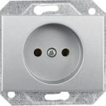 Розетка без заземления со шторками без рамки серии eXPress