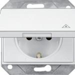 Розетка IP44 с заземлением и крышкой без рамки серия eXPress