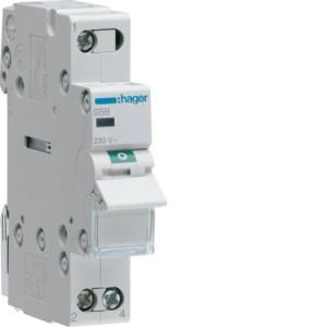 Миниатюрный неавтоматический выключатель 1 полюсный 32А  с  индикатором серия SBB
