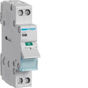 Миниатюрный неавтоматический выключатель 2 полюсный 16А  с  индикатором серии SBB