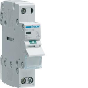 Миниатюрный неавтоматический выключатель 1 полюсный 16А  с  индикатором серии SBT