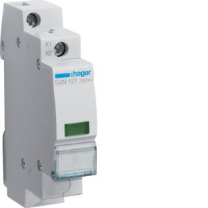 Светодиодный индикатор c зеленым фильтром 230В , серии SVN