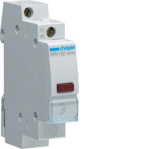 Светодиодный индикатор c  красным фильтром  230В , серии SVN