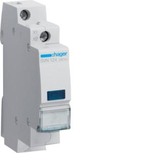 Светодиодный индикатор c  синим фильтром  230В , серии SVN