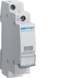 Светодиодный индикатор c  бесцветным фильтром  230В , серии SVN