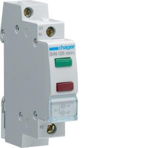 Светодиодный индикатор двойной c  красным и зелёным фильтрами  230В , серии SVN