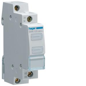 Светодиодный индикатор двойной c бесцветным  фильтром  230В , серии SVN
