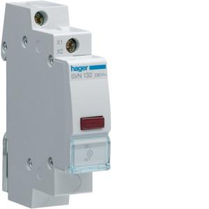 Светодиодный индикатор c красным фильтром 12/48В , серии SVN