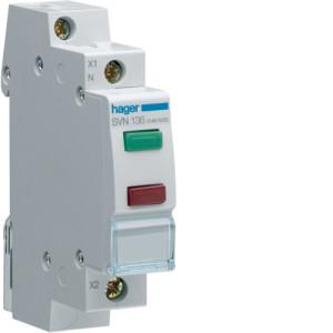 Светодиодный индикатор двойной c  красным и зелёным фильтрами  12/48 В  , серии SVN