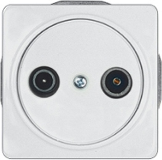Телевизионная розетка оконечная (TV+R) без рамки серии LuXe LX 200