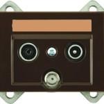 Телевизионная розетка оконечная (TV+R+SAT) без рамки серии eXPress