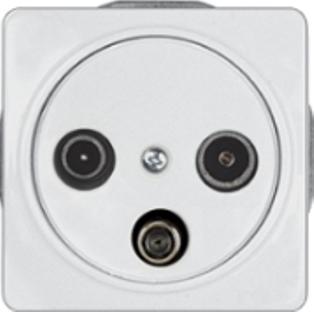 Телевизионная розетка промежуточная (TV+R+SAT) -10dB без рамки серии LuXe LX 200