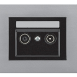 Телевизионная розетка промежуточная (TV+R) -14dB