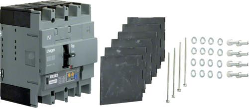 Автоматические выключатели, h250,  регулируемый тепловой и магнитный расцепитель, 4P,  125 A,  70kA