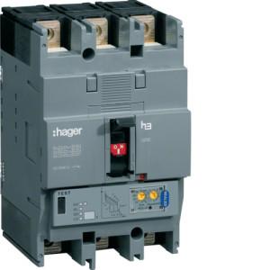 Автоматические выключатели, h250,  регулируемый тепловой и магнитный расцепитель, 3P,  250 A,  70kA