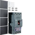 Автоматические выключатели, h630,  регулируемый тепловой и магнитный расцепитель, 3P,  250 A,  70kA