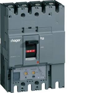 Автоматические выключатели, h630,  регулируемый тепловой и магнитный расцепитель, 4P,  250 A,  70kA