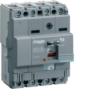 Силовой автоматический выключатель  серии x160, TM рег., 4P,  160 A,  40kA