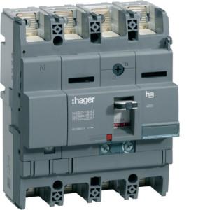 Автоматические выключатели, x250, регулируемый тепловой и магнитный расцепитель, 4P,  200 A,  40kA