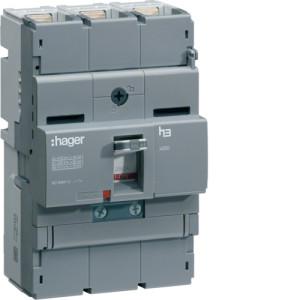 Автоматические выключатели, X250, 40 кА, регулируемый тепловой и магнитный расцепитель, 3P,  250 A,  40kA