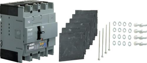 Автоматические выключатели, h250,  регулируемый тепловой и магнитный расцепитель, 4P,  40 A,  50kA